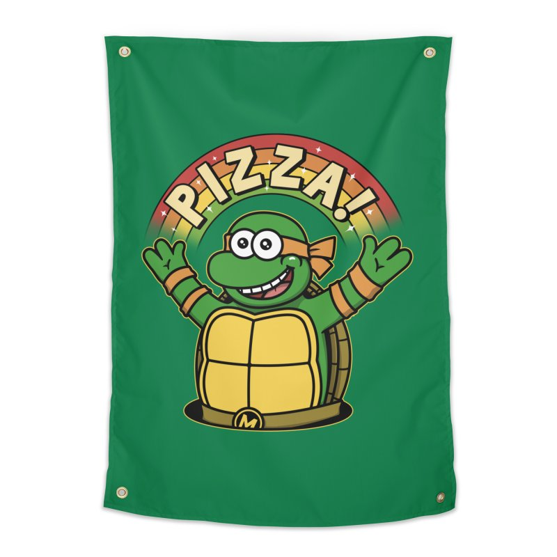 As long as we have Pizza! Home Tapestry by Pigboom's Artist Shop