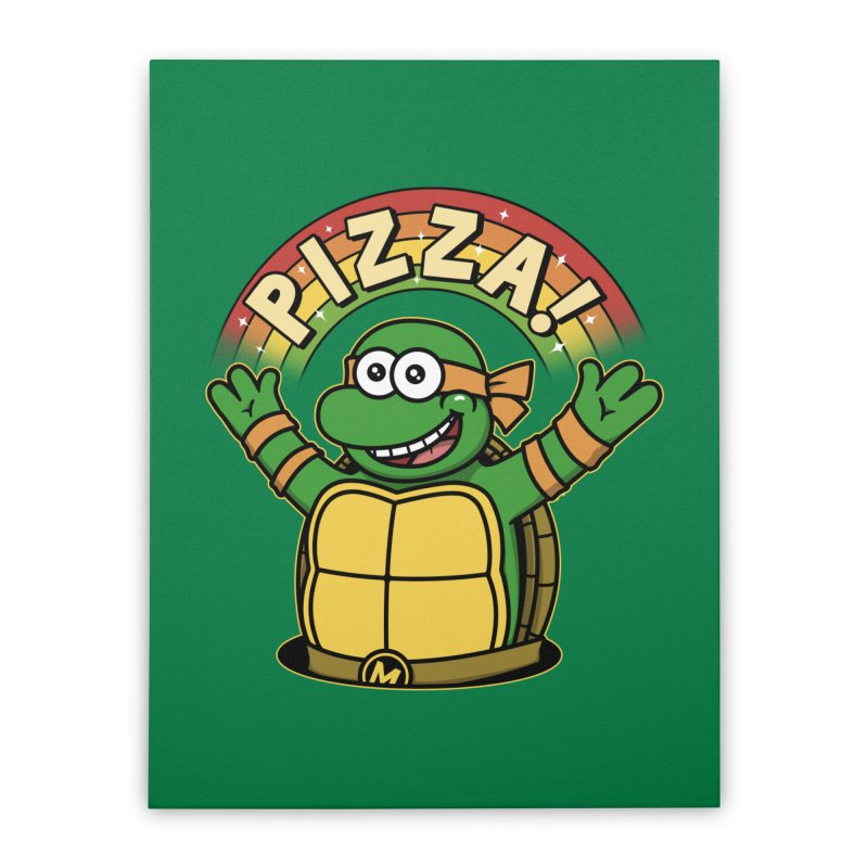 As long as we have Pizza! Home Stretched Canvas by Pigboom's Artist Shop