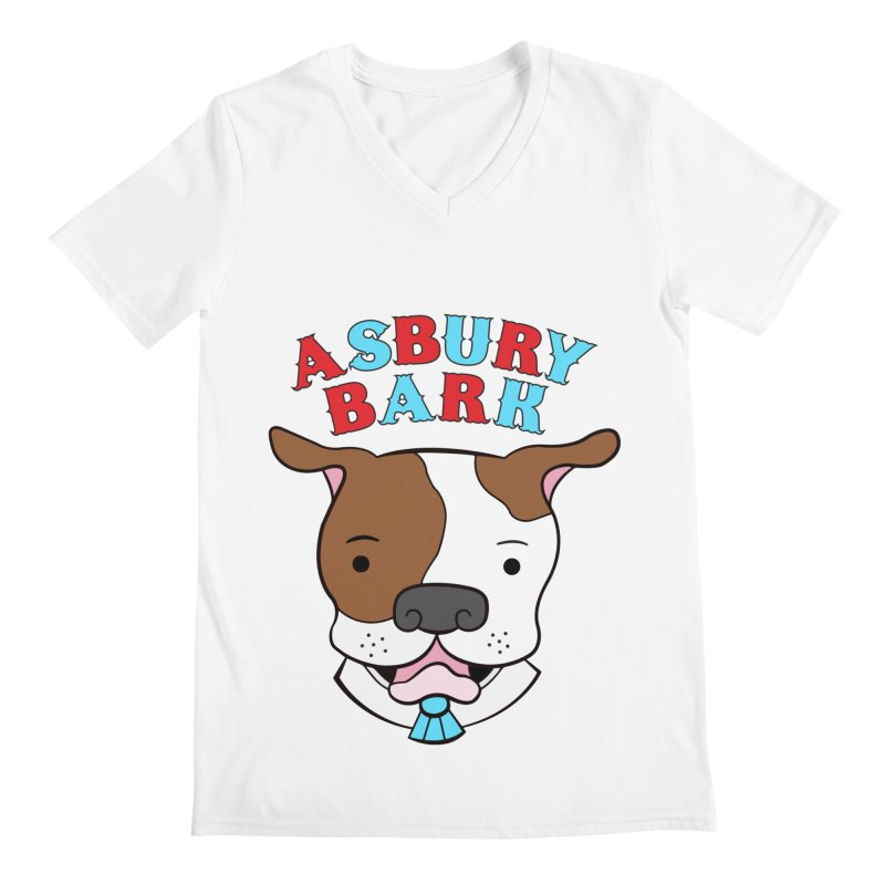 Asbury Bark Men's V-Neck by Pigdog