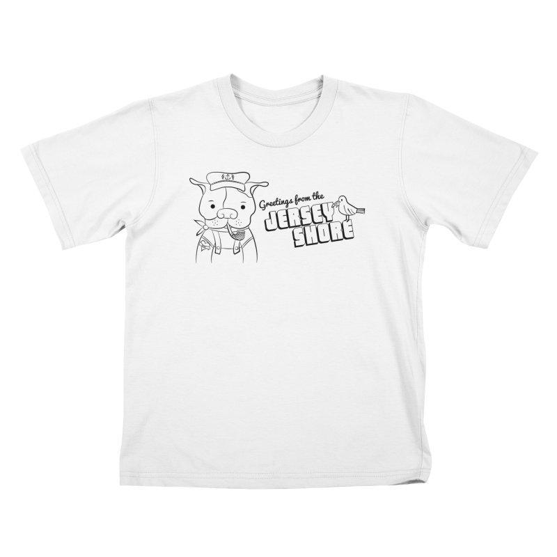Greetings From... Kids T-Shirt by Pigdog