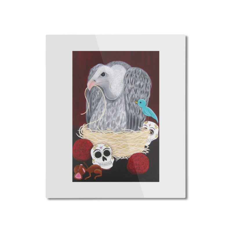 Gluttony Home Mounted Aluminum Print by Pigdog
