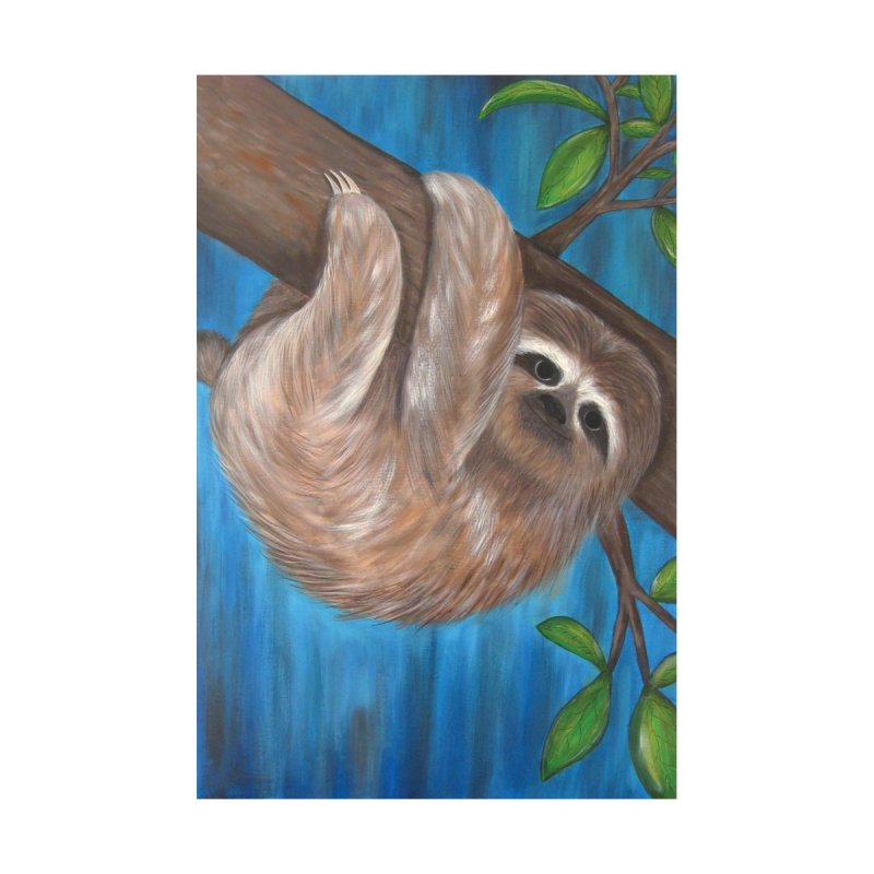 Sloth Home Fine Art Print by Pigdog
