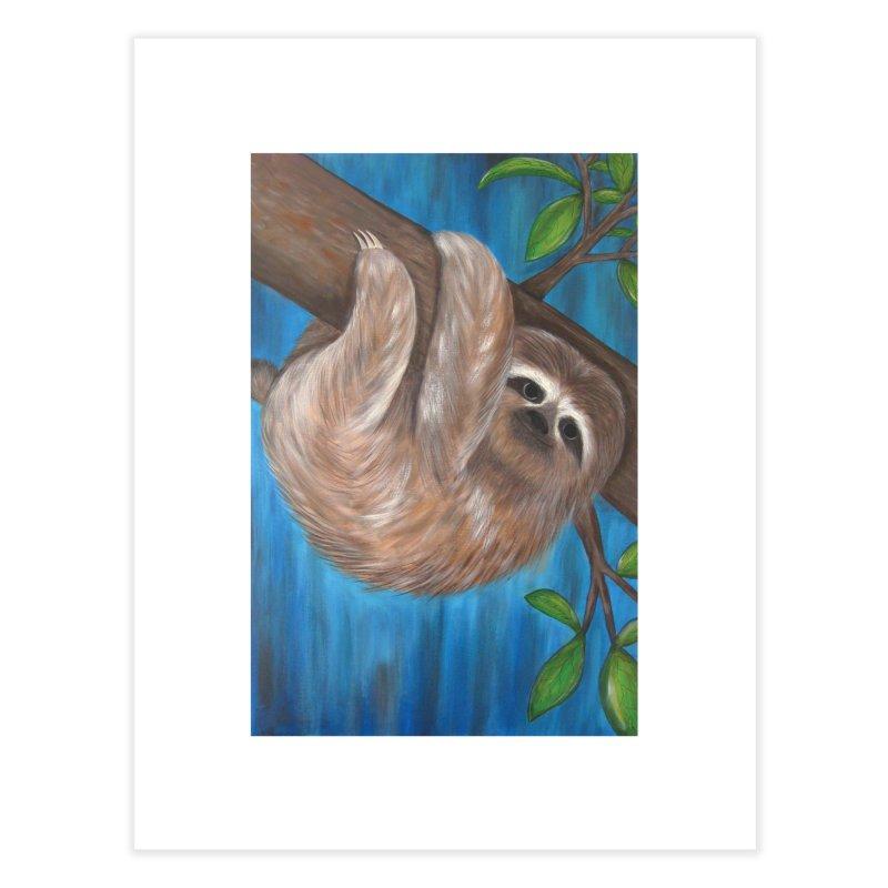Sloth Home Fine Art Print by Pigdog
