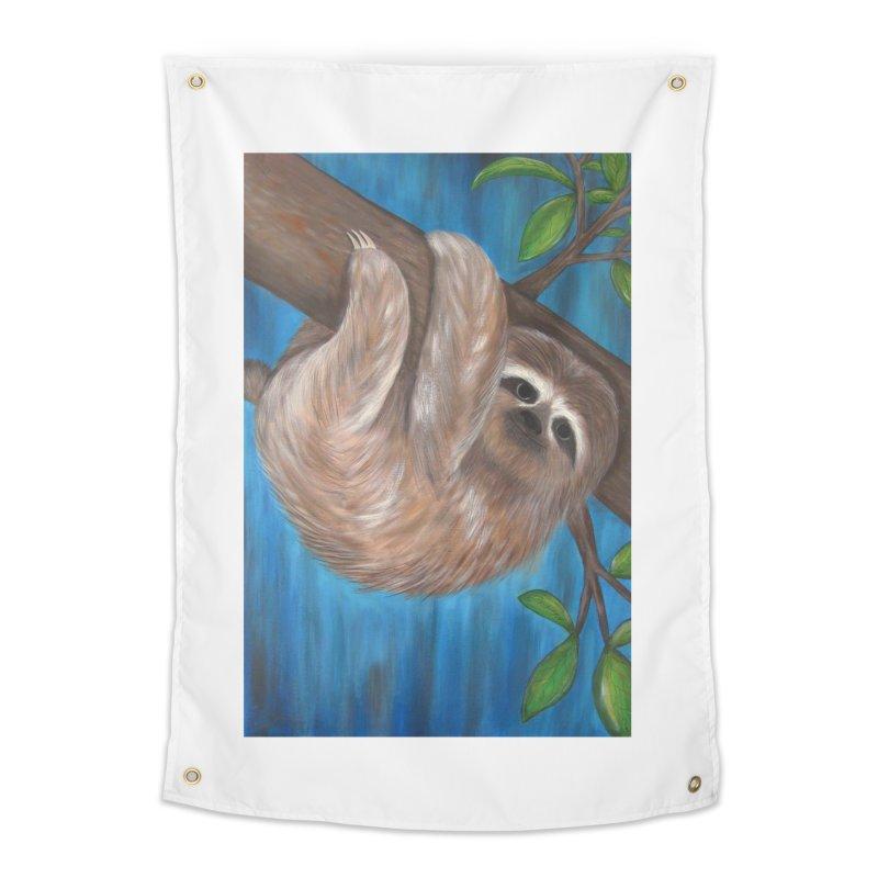 Sloth Home Tapestry by Pigdog