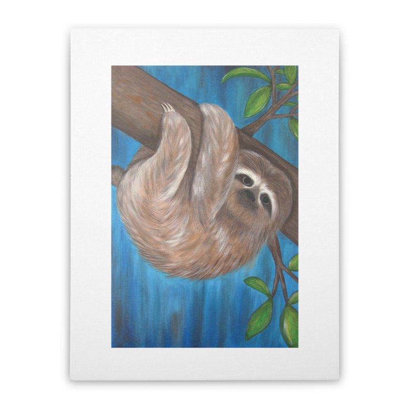 Sloth Home Stretched Canvas by Pigdog