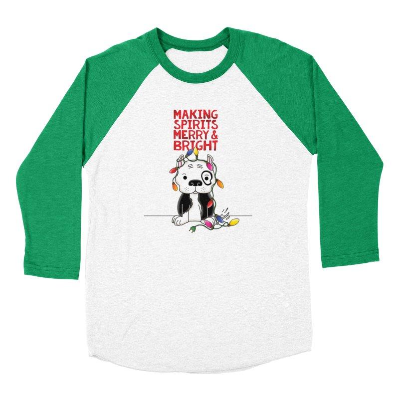 Merry And Bright Men's Longsleeve T-Shirt by Pigdog