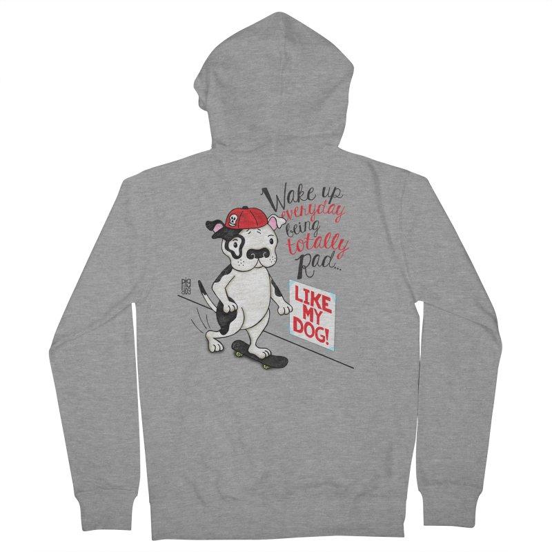 Totally Rad Men's Zip-Up Hoody by Pigdog