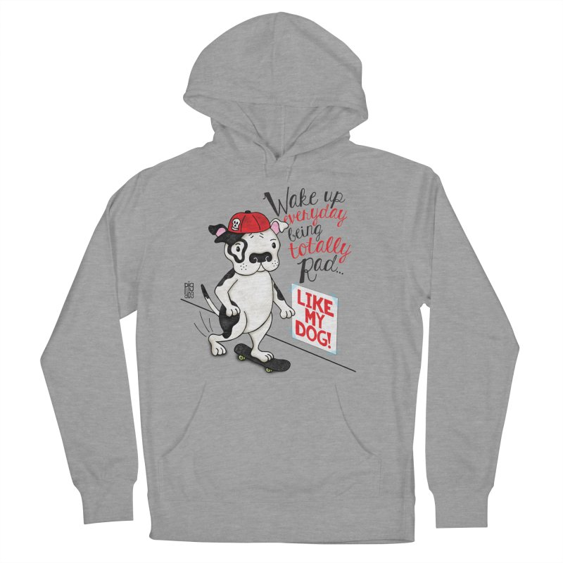 Totally Rad Men's French Terry Pullover Hoody by Pigdog