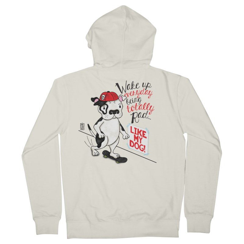 Totally Rad Women's Zip-Up Hoody by Pigdog