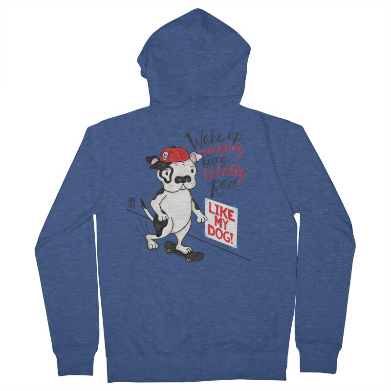 Totally Rad Men's French Terry Zip-Up Hoody by Pigdog
