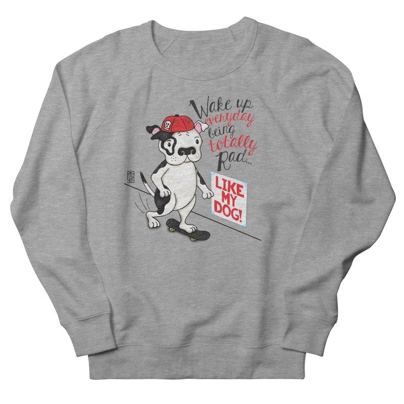 Totally Rad Men's French Terry Sweatshirt by Pigdog
