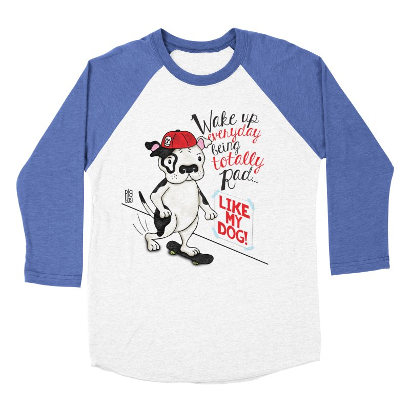 Totally Rad Women's Baseball Triblend Longsleeve T-Shirt by Pigdog