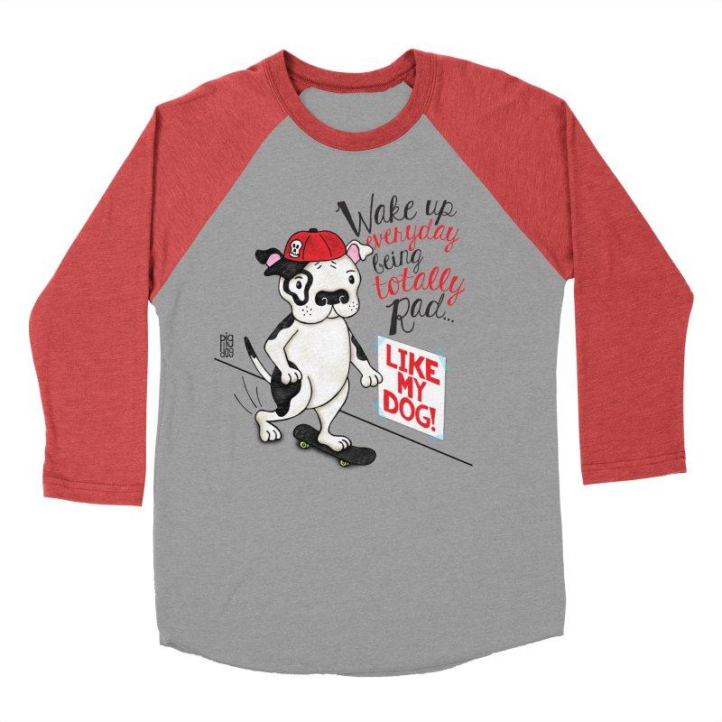 Totally Rad Women's Baseball Triblend Longsleeve T-Shirt by Pigdog