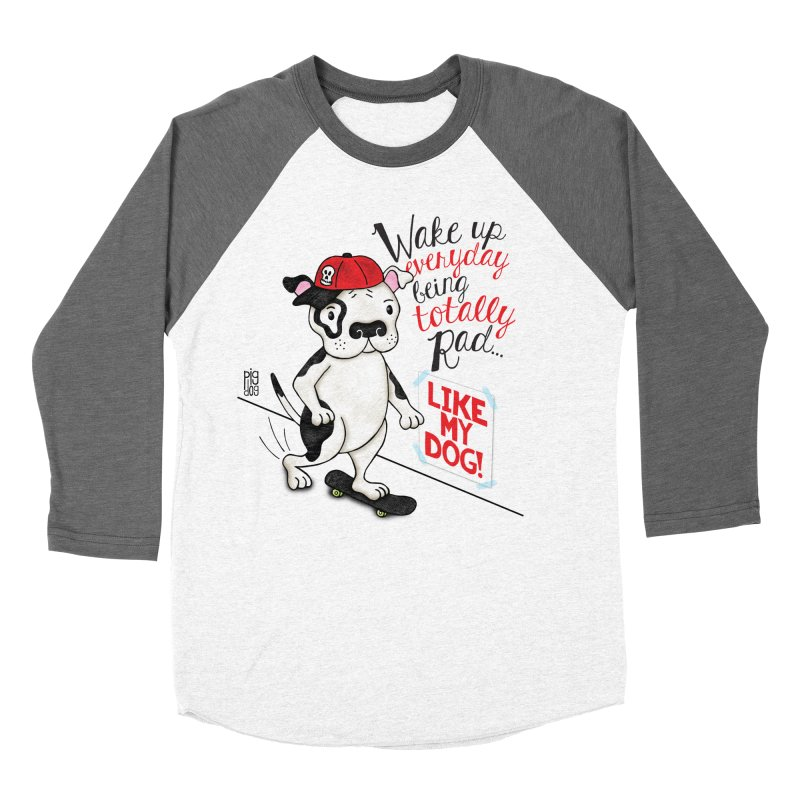 Totally Rad Men's Baseball Triblend T-Shirt by Pigdog