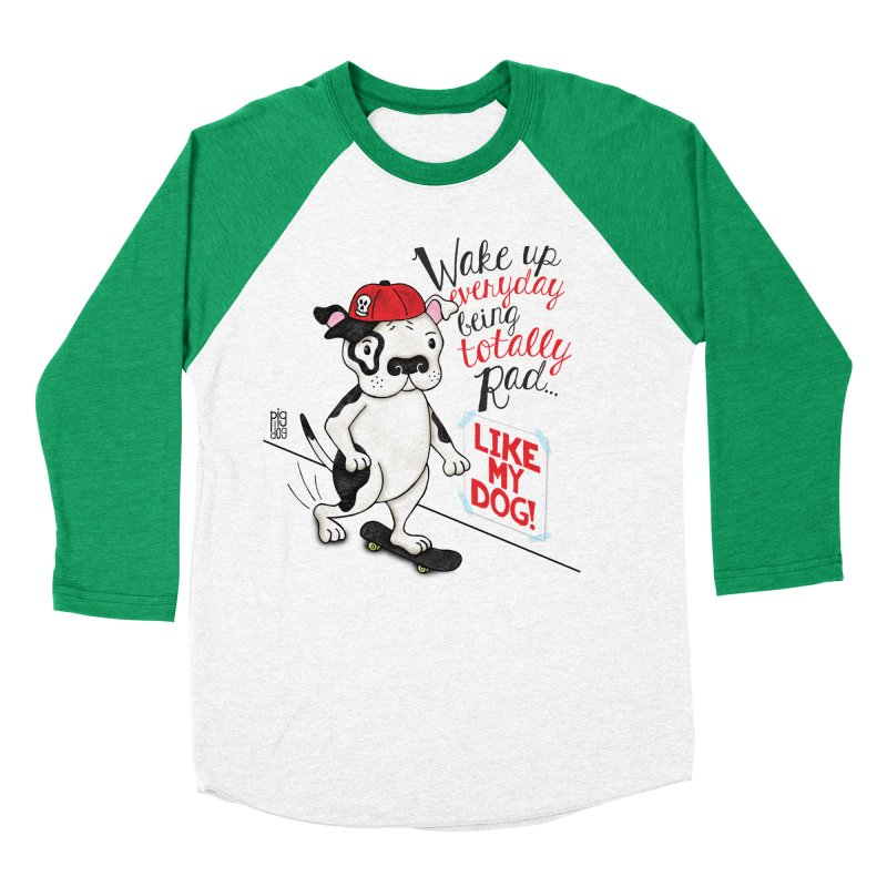 Totally Rad Men's Baseball Triblend Longsleeve T-Shirt by Pigdog