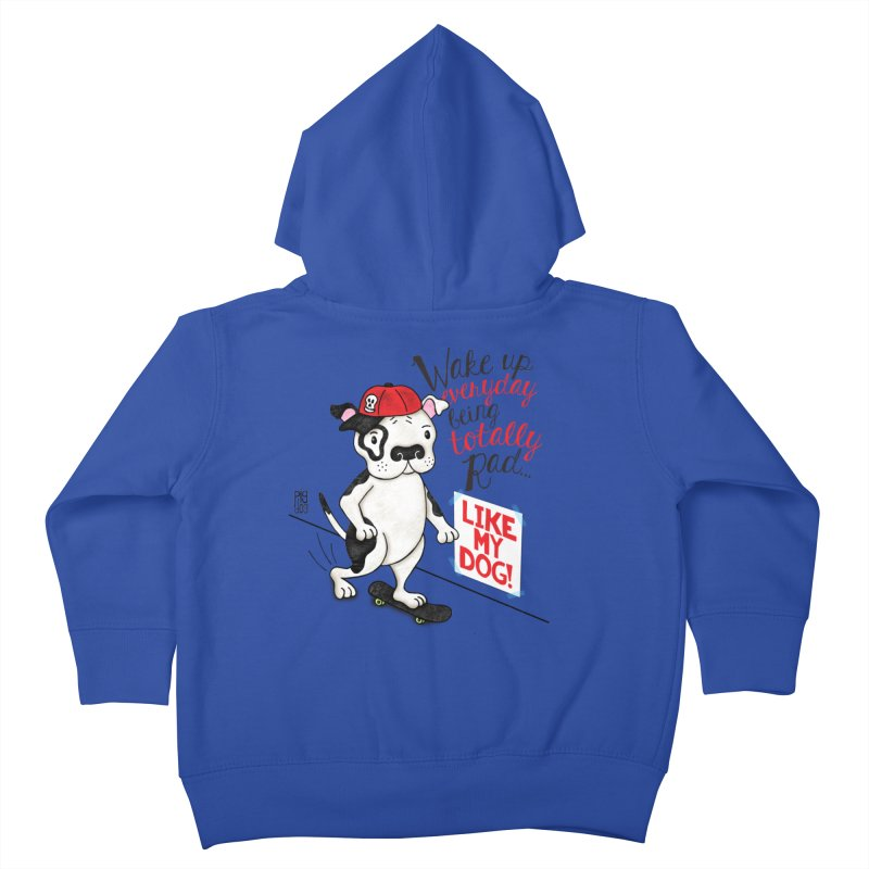 Totally Rad Kids Toddler Zip-Up Hoody by Pigdog