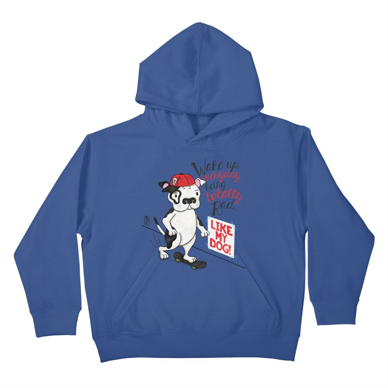 Totally Rad Kids Pullover Hoody by Pigdog
