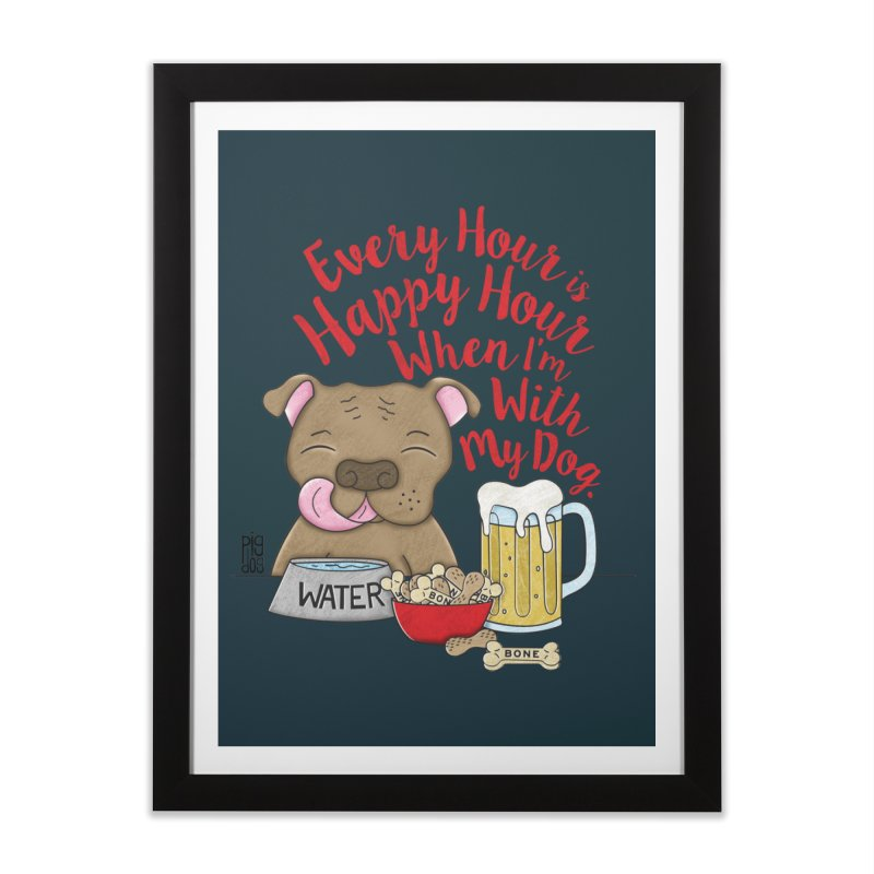 Happy Hour Home Framed Fine Art Print by Pigdog