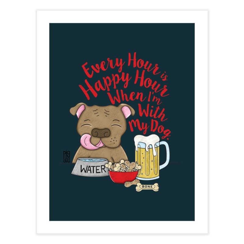 Happy Hour Home Fine Art Print by Pigdog