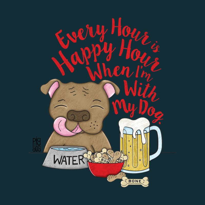 Happy Hour Men's V-Neck by Pigdog