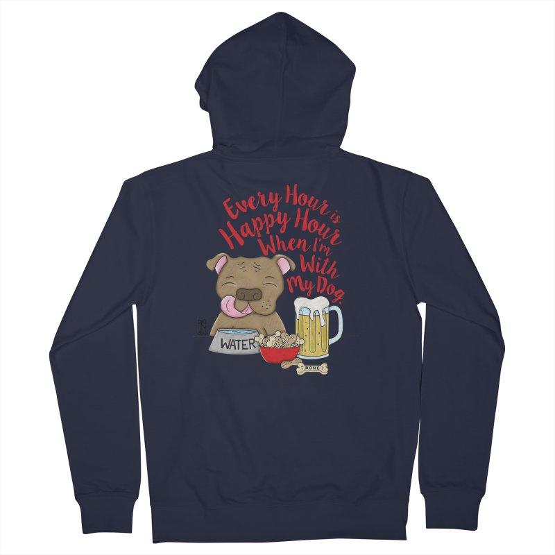 Happy Hour Women's Zip-Up Hoody by Pigdog