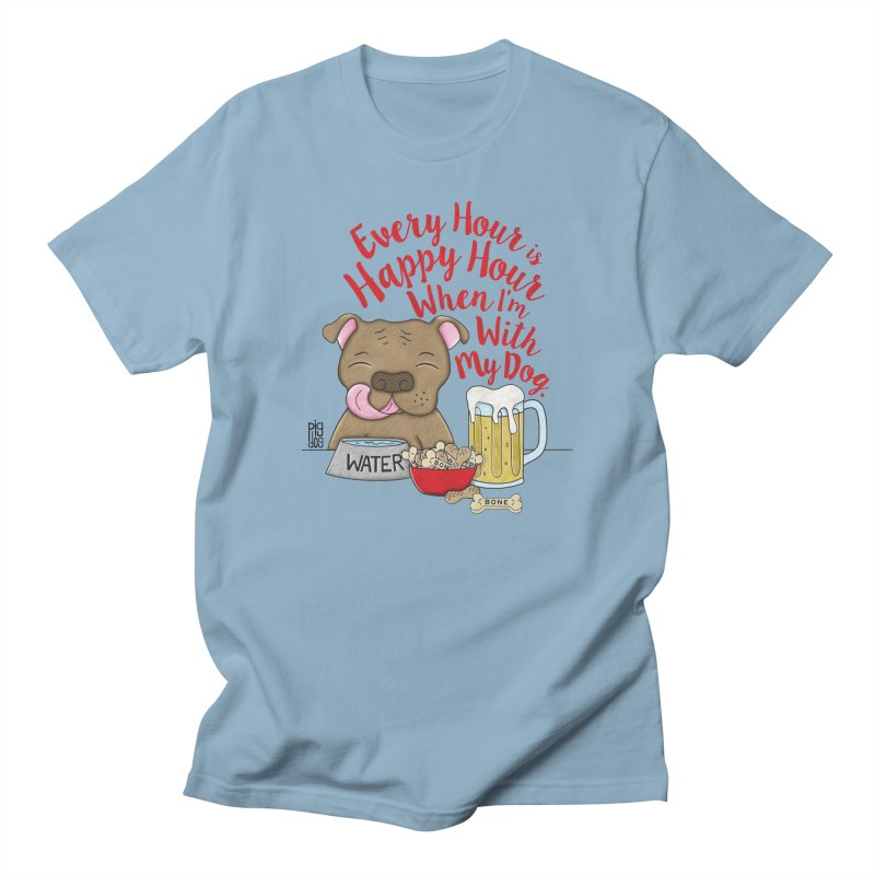Happy Hour Men's T-Shirt by Pigdog