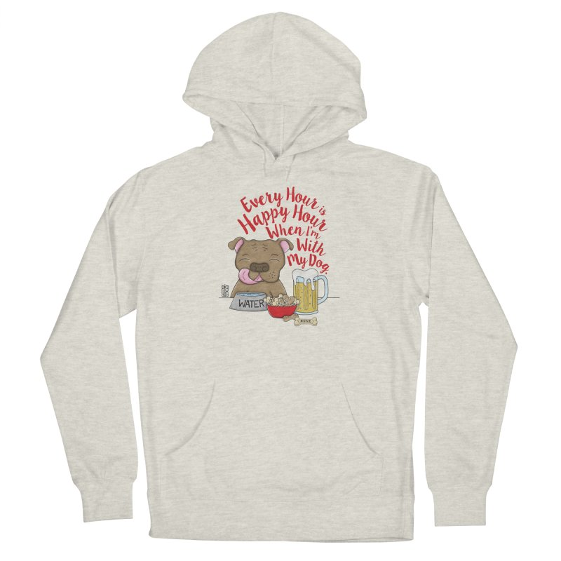 Happy Hour Men's French Terry Pullover Hoody by Pigdog