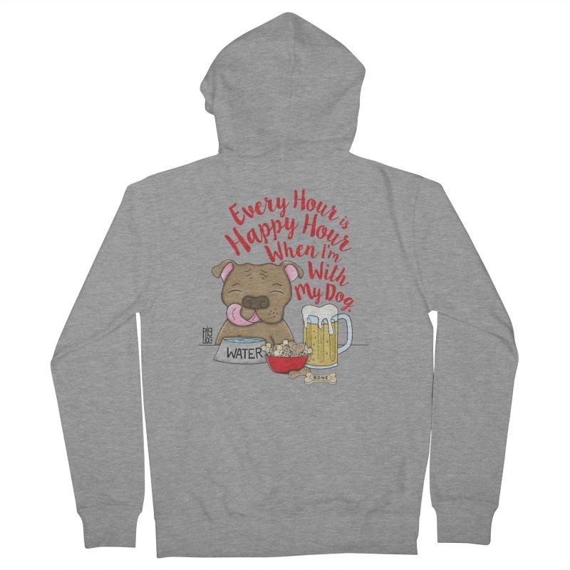Happy Hour Women's French Terry Zip-Up Hoody by Pigdog