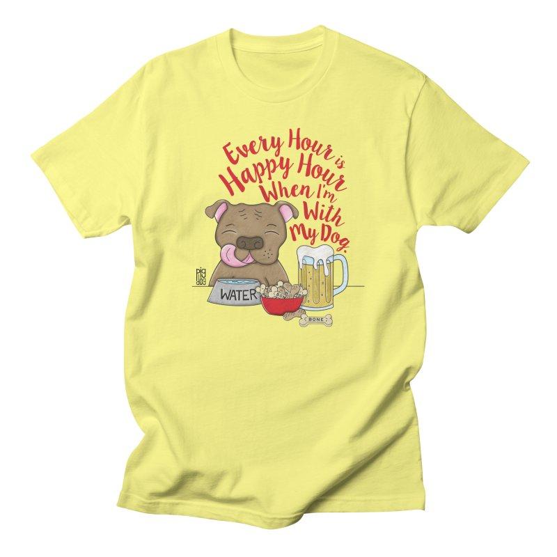 Happy Hour Men's Regular T-Shirt by Pigdog