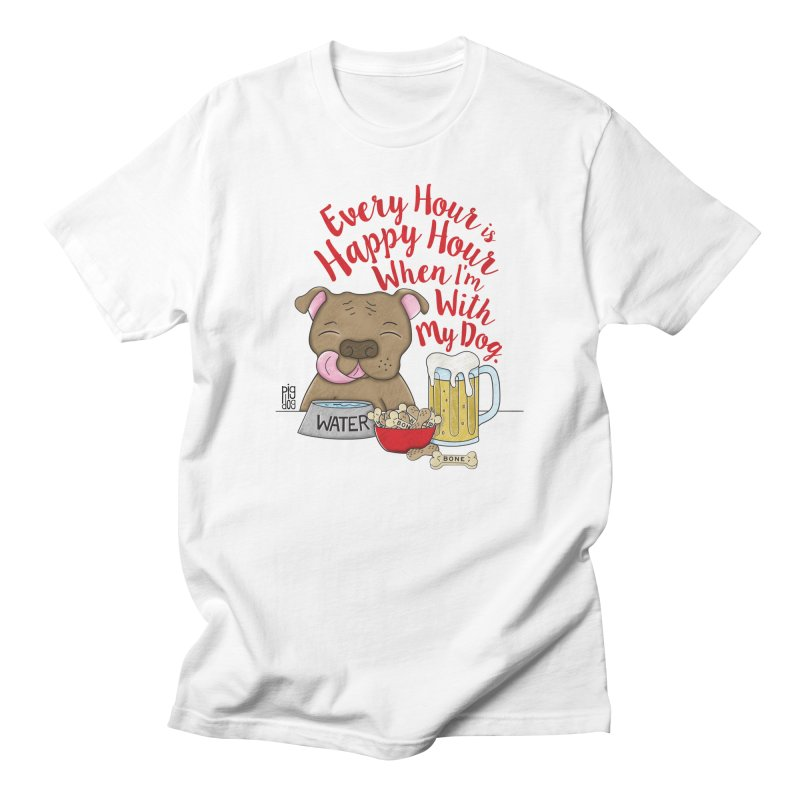 Happy Hour Men's T-Shirt by Pigdog