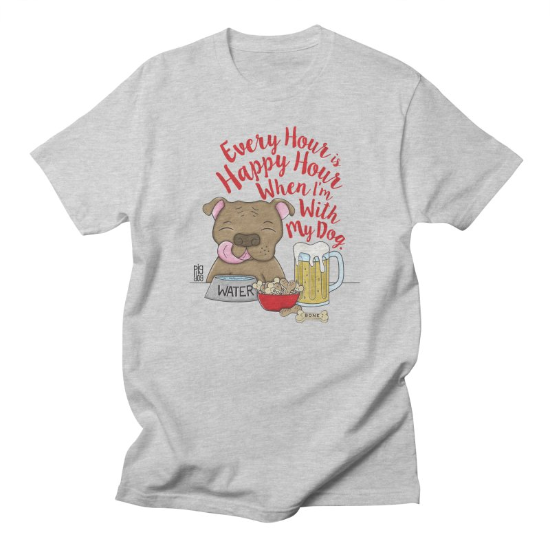 Happy Hour Men's Regular T-Shirt by Pigdog