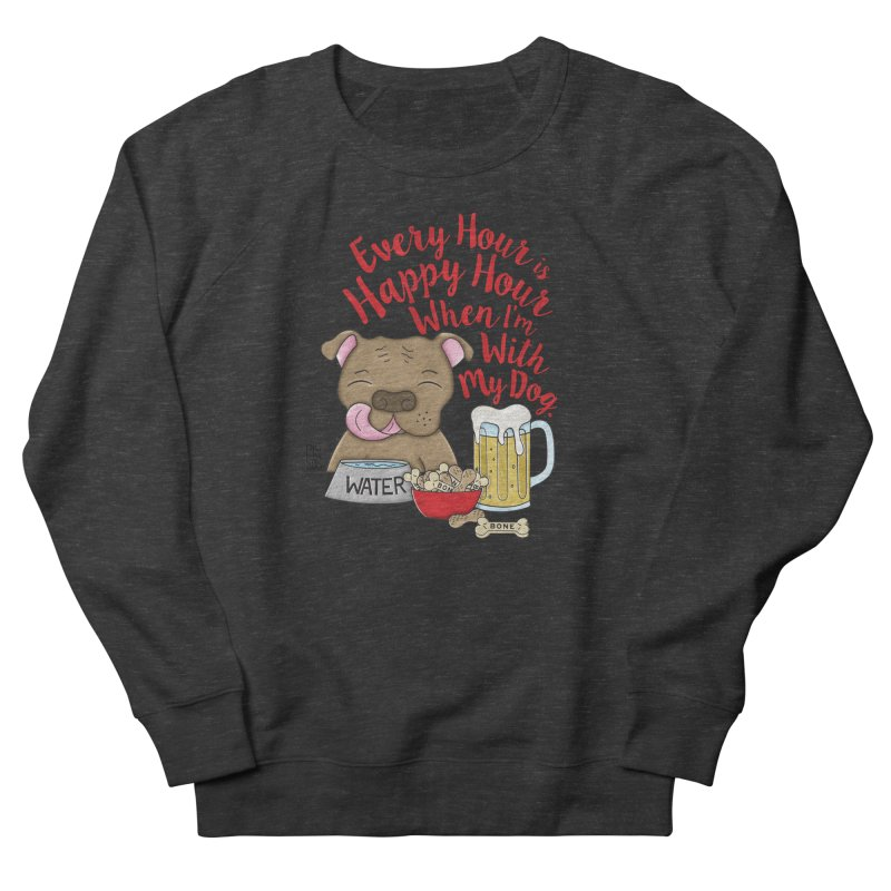 Happy Hour Women's French Terry Sweatshirt by Pigdog