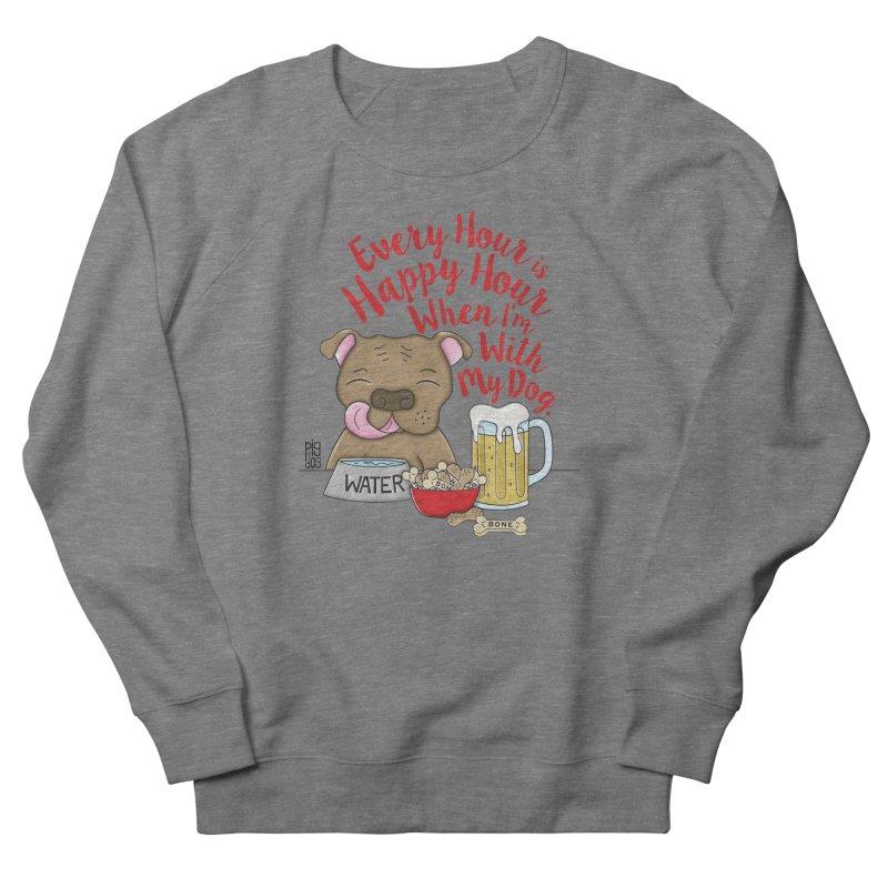 Happy Hour Men's French Terry Sweatshirt by Pigdog