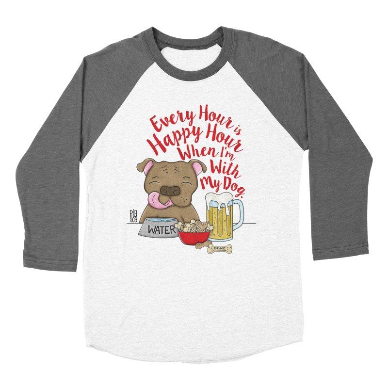 Happy Hour Women's Baseball Triblend Longsleeve T-Shirt by Pigdog