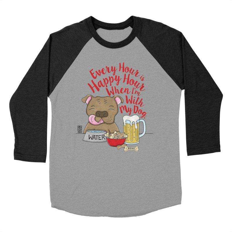 Happy Hour Men's Baseball Triblend T-Shirt by Pigdog