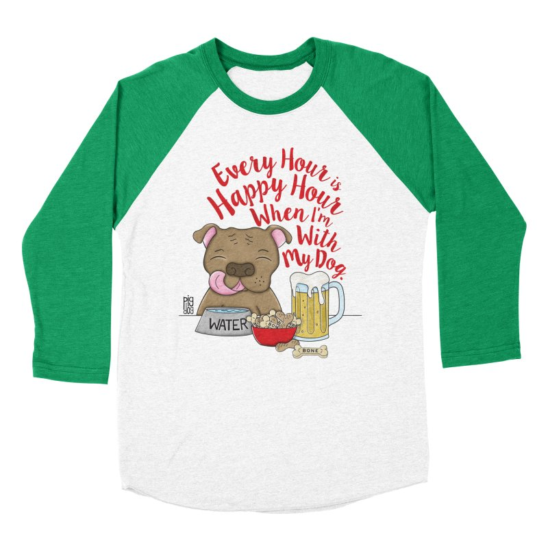 Happy Hour Men's Baseball Triblend Longsleeve T-Shirt by Pigdog