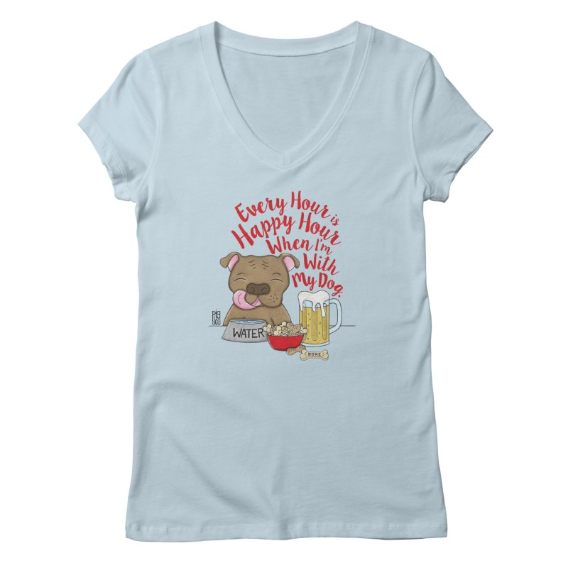 Happy Hour Women's V-Neck by Pigdog
