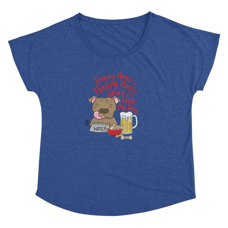 Happy Hour Women's Dolman Scoop Neck by Pigdog