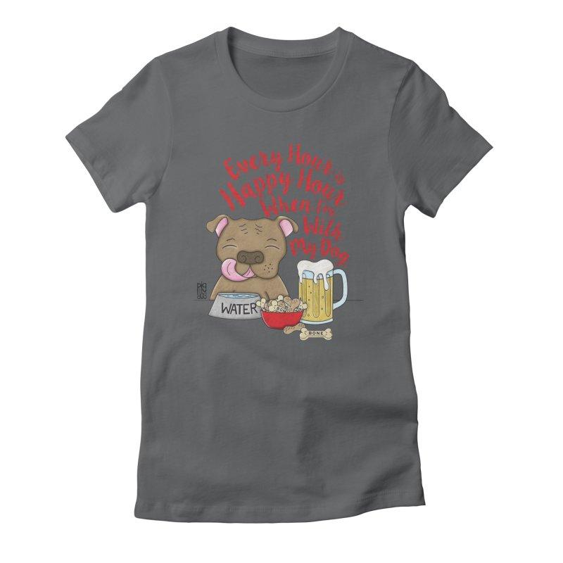 Happy Hour Women's T-Shirt by Pigdog