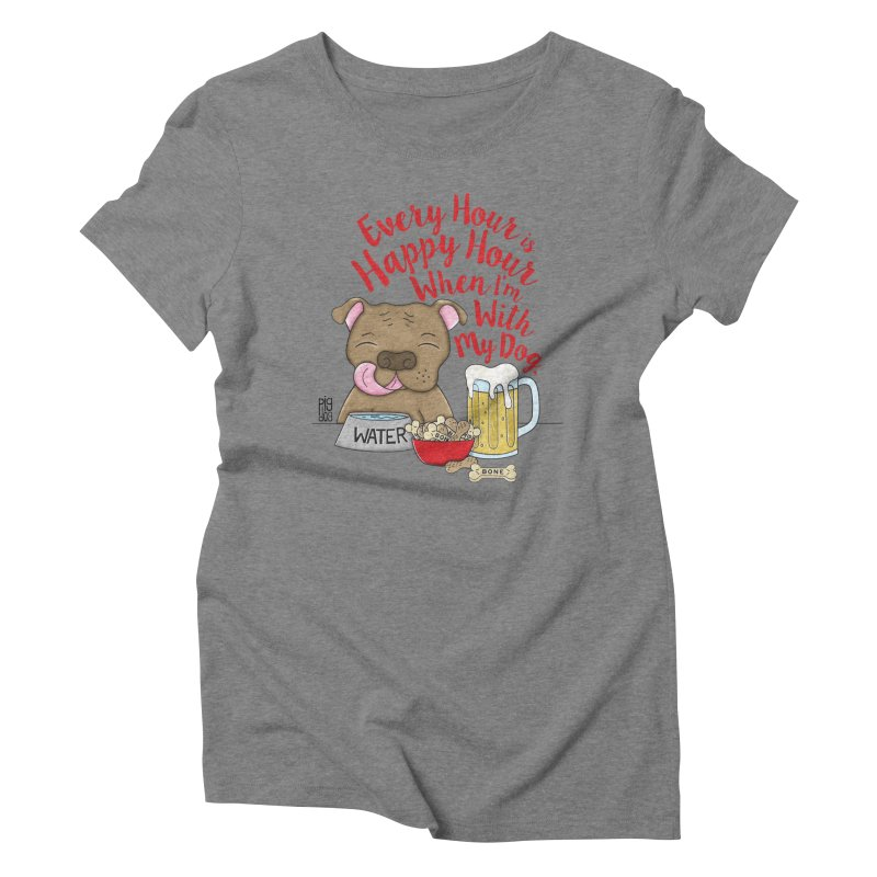 Happy Hour Women's Triblend T-Shirt by Pigdog
