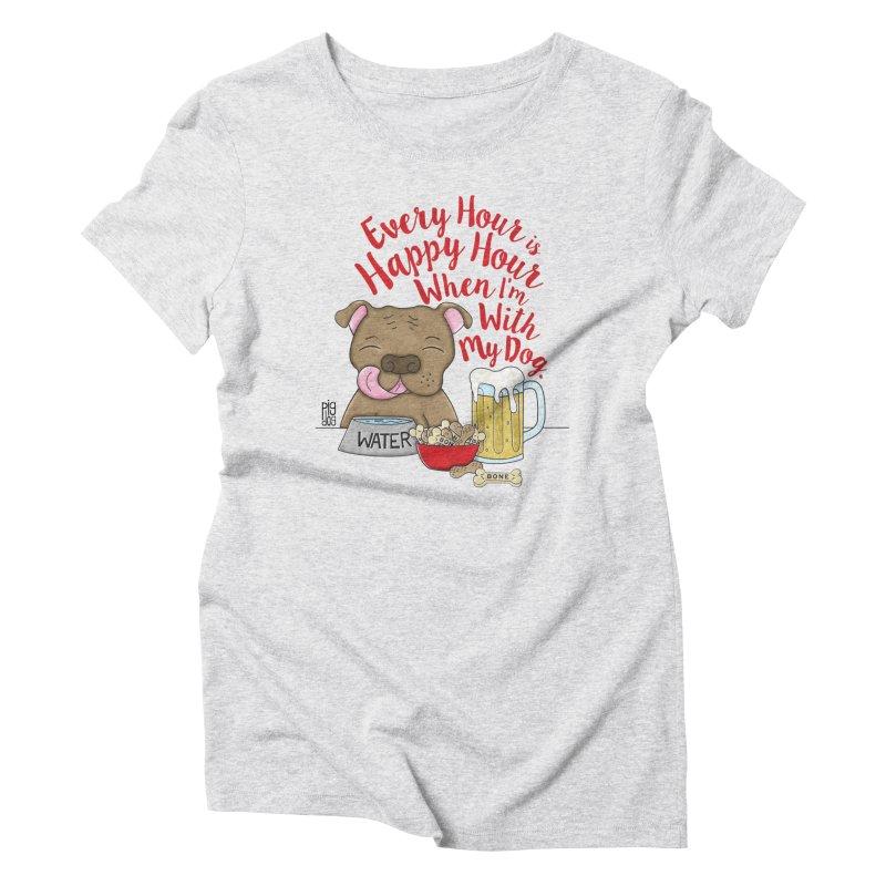 Happy Hour Women's Triblend T-Shirt by Pigdog