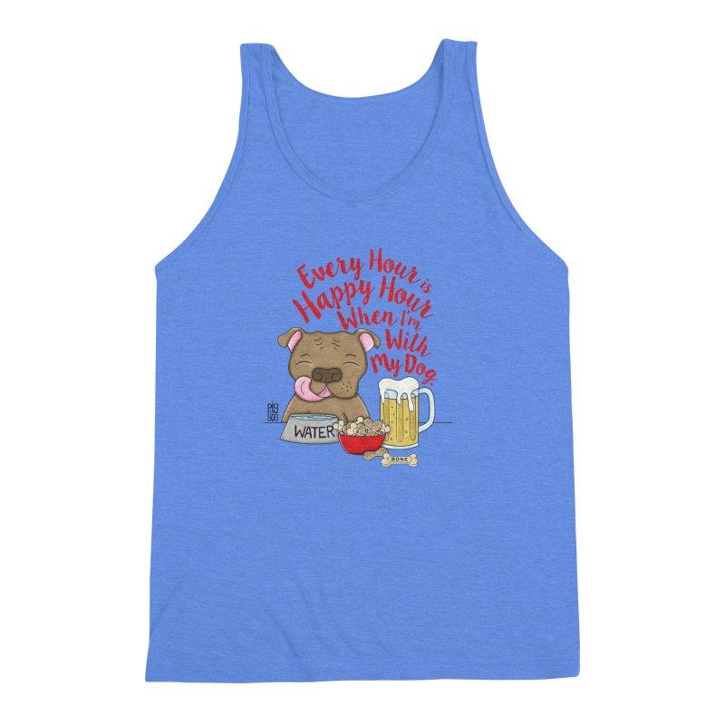 Happy Hour Men's Triblend Tank by Pigdog