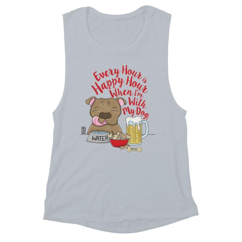 Happy Hour Women's Muscle Tank by Pigdog