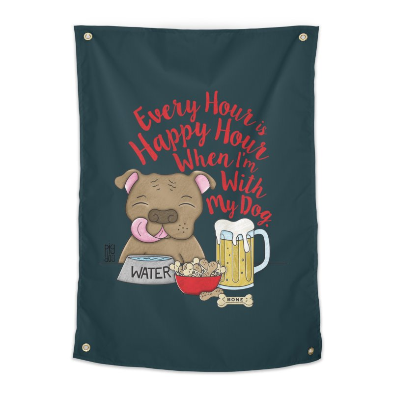 Happy Hour Home Tapestry by Pigdog