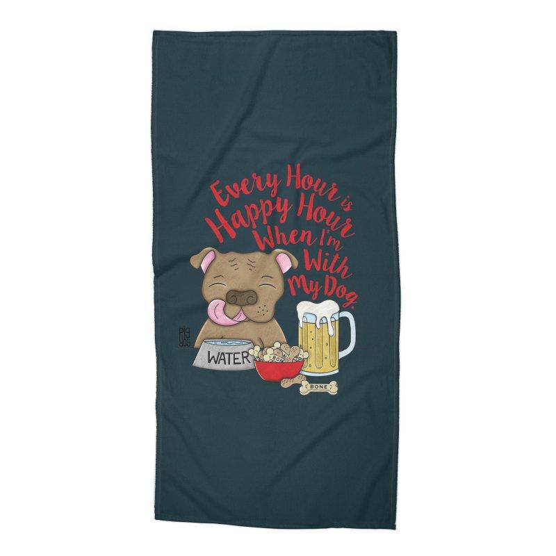Happy Hour Accessories Beach Towel by Pigdog