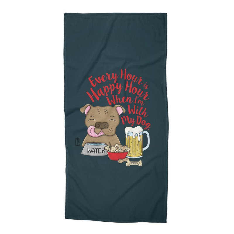 Happy Hour Accessories Beach Towel by Pigdog