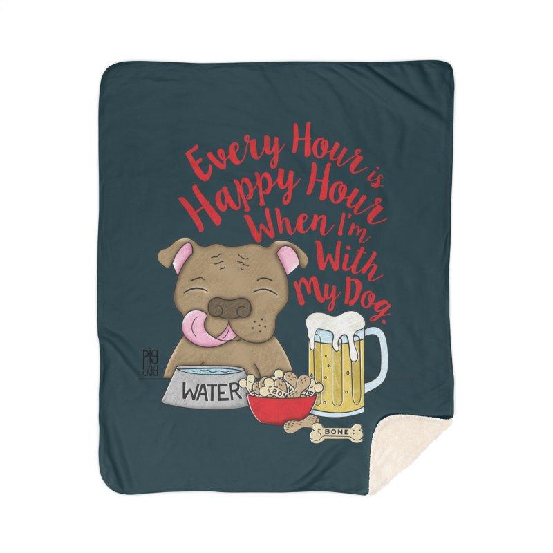 Happy Hour Home Sherpa Blanket Blanket by Pigdog