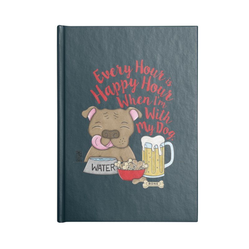 Happy Hour Accessories Blank Journal Notebook by Pigdog