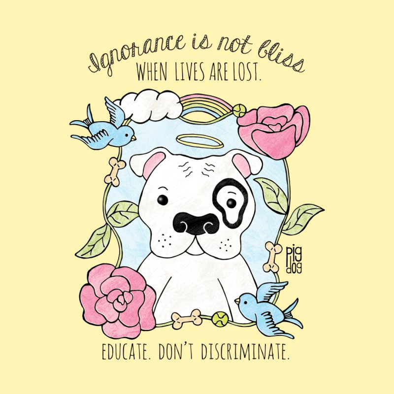 Ignorance Is Not Bliss Home Duvet by Pigdog