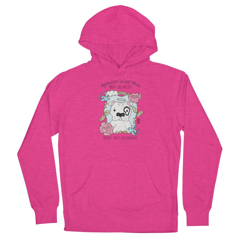 Ignorance Is Not Bliss Men's French Terry Pullover Hoody by Pigdog